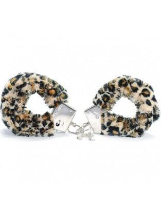 Menottes fourrure léopard